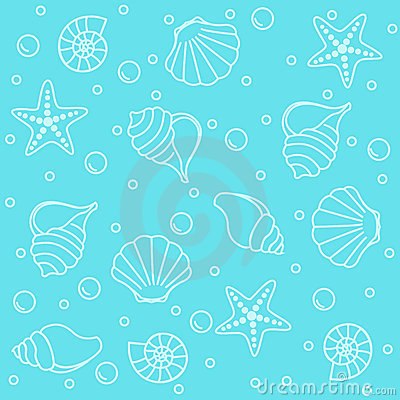 Free Sea Creatures Seamless Pattern Royalty Free Stock Image - 12215156