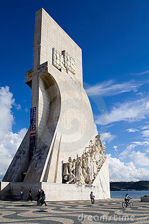 Sea-Discoveries monument in Lisbon, Portugal. Editorial Stock Photo