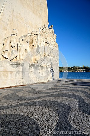 Sea-Discoveries monument in Lisbon, Portugal Editorial Stock Image