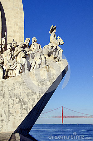 Sea-Discoveries monument in Lisbon, Portugal Editorial Stock Photo