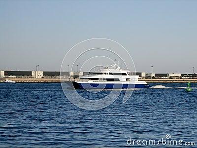 Sea Ferry at Boston Harbour