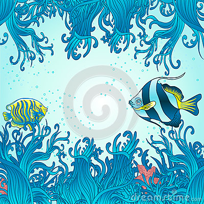 Sea fish background