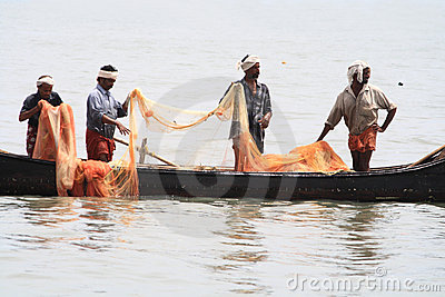 Sea fishing Editorial Stock Image