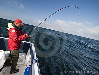 Sea fishing from boat