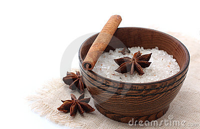 Sea flavored salt with spice