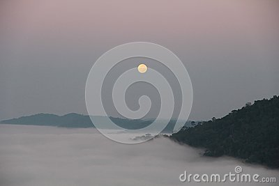 Sea Fog and Full Moon