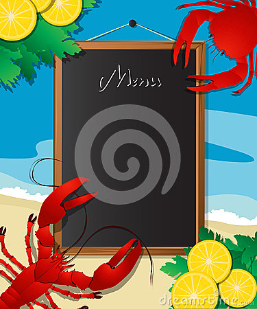 Sea food menu