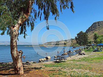 Sea of Galilee Editorial Stock Photo