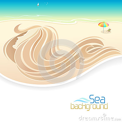Free Sea Girl And Beach Holidays Stock Image - 32973601