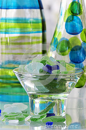 Sea Glass and Bottles