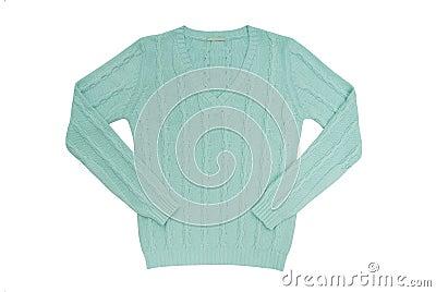 Sea-green sweater