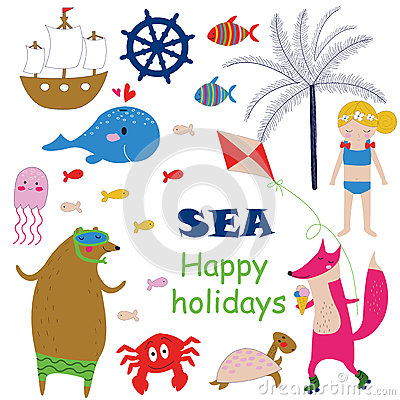 Free Sea Holidays Background Royalty Free Stock Image - 75988446