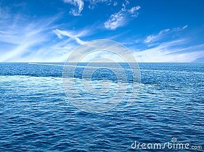 Sea horizon.