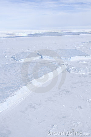 Sea ice on Antarctica