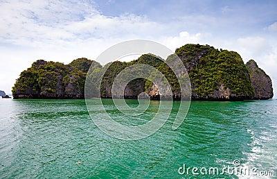 Sea island. Phang nga. Thailand.