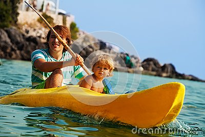 Sea kayaking with children