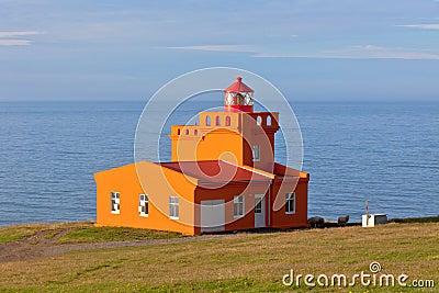 Sea Landscape with Orange Lighthouse