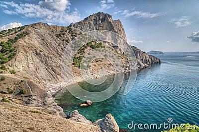 Sea landscape with rocks