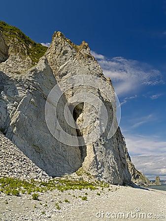Sea landscape with rocky coast