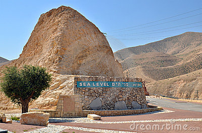 Sea level in desert in Israel