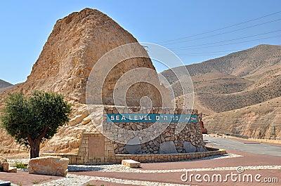 Sea level in desert in Israel
