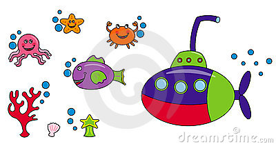 Sea life characters