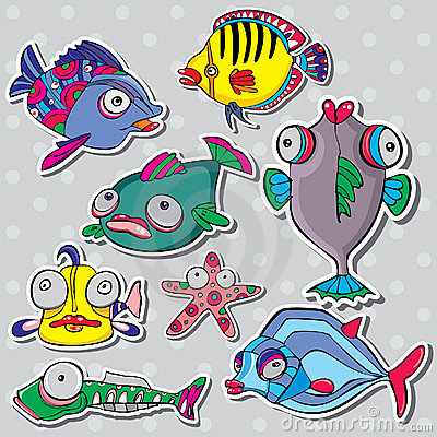 Sea life vector set
