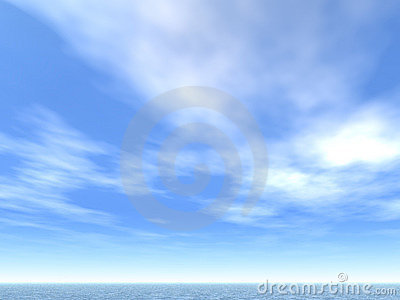 Sea-line and clouds