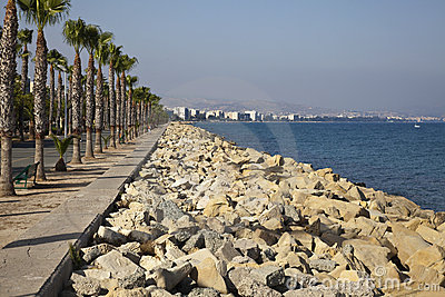 Sea line in Limassol city