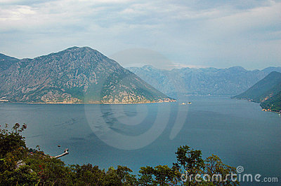 Sea and mountain of Balkans - southern Europe