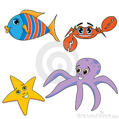 Sea ocean animals