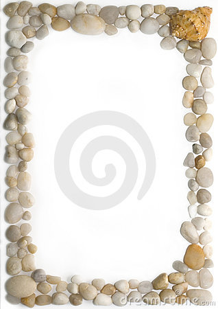 Free Sea Pebbles Frame Stock Images - 1558554