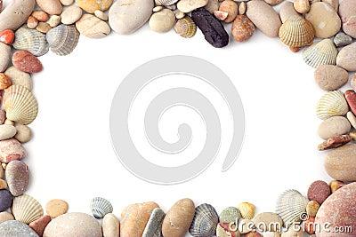 Sea pebbles frame