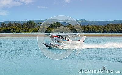 Sea Plane prepares to Take off