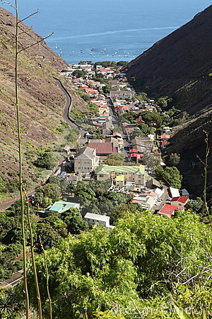 Sea port Jamestown capital of St Helena Island