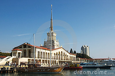 Sea Port of Sochi. Editorial Stock Image