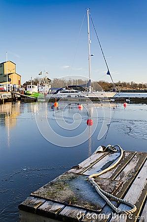 Sea port in winter season