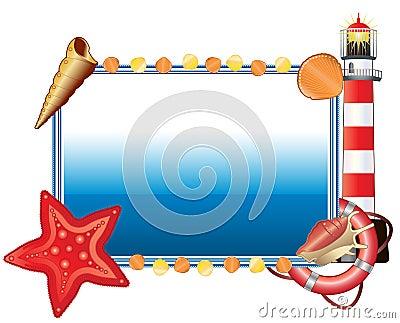 Sea postcard horizontal