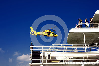 Sea rescue landing Editorial Stock Photo