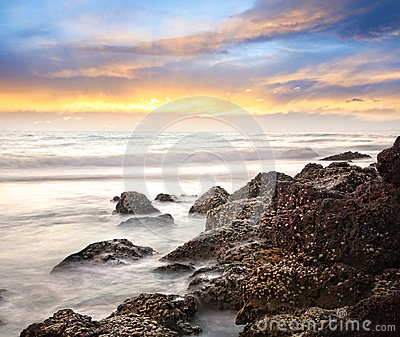 Sea and rock background