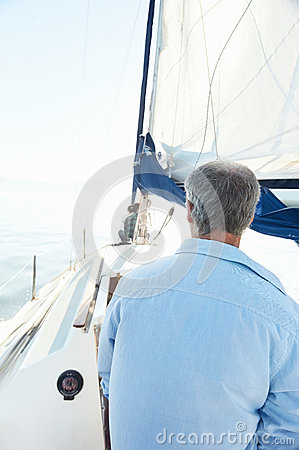 Sea sailing man