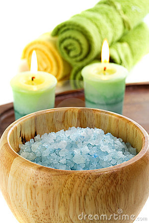 Sea salt and bath accessories