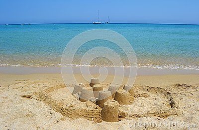 Sea and sand castle