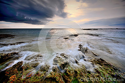 Sea sand sun beach sunset sunrise thailand stone rock beach land