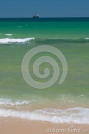 Sea-scape with brigantine