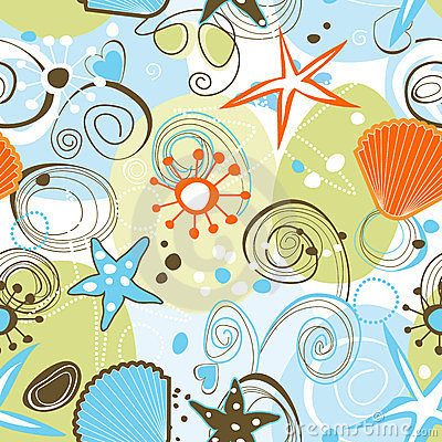 Free Sea Seamless Pattern Stock Image - 23807981