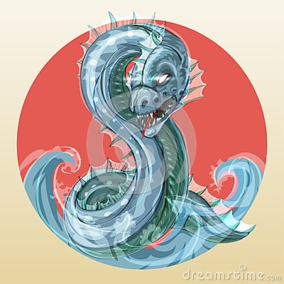 Sea serpent or water dragon
