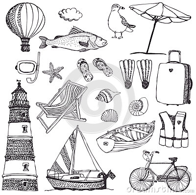 Free Sea Set Stock Image - 35719501