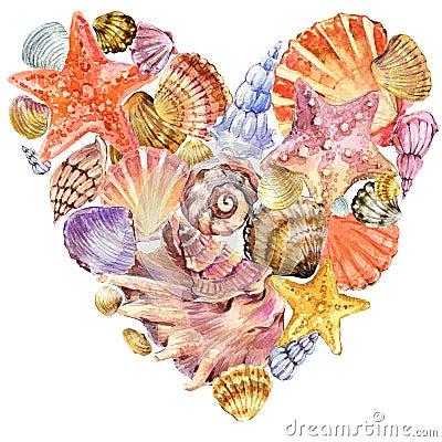Free Sea Shell On Sea Send. Stock Images - 55329664
