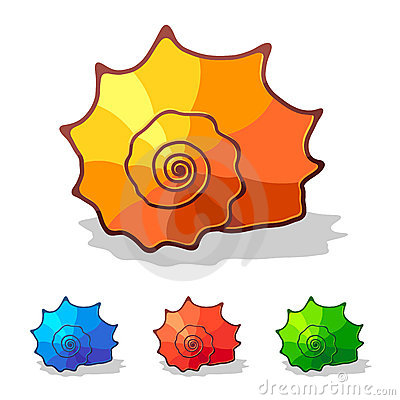 Sea shell - vector icon